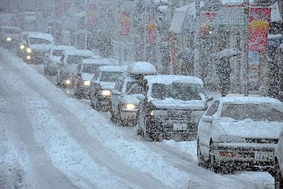 פקקי תנועה גדולים (צילום: AFP)