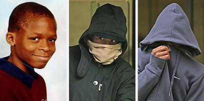 משמאל: הנרצח, דמילולה טיילור. מימין: רוצחיו דני וריקי פרדי (צילום: gettyimages) (צילום: gettyimages)