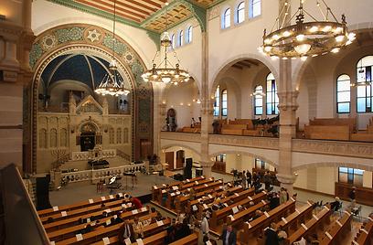 טוען לתואר הגדול בגרמניה. בית הכנסת ברחוב רייקה (צילום: Gettyimages) (צילום: Gettyimages)