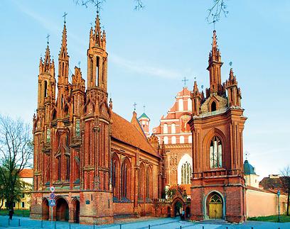 הכנסייה הגותית בווילנה (צילום: Lithuanian tourist board) (צילום:  עמרי גלפרין, טבע הדברים) (צילום:  עמרי גלפרין, טבע הדברים)