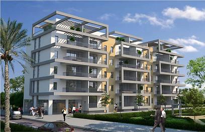 הדמיית הפרויקט ברחוב אבן גבירול. יהיו גם דירות פנטהאוז ()
