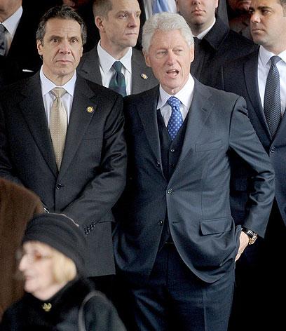 ביל קלינטון בהלוויתו של אד קוץ' בפברואר 2013 (צילום: MCT) (צילום: MCT)
