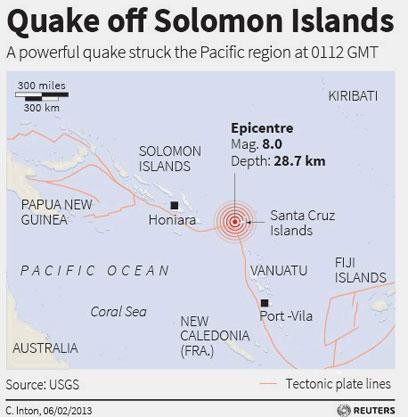 תוך שעות: יותר מ-20 רעידות אדמה בפסיפי (צילום: רויטרס)