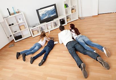 אם הטלוויזיה נהרסה - ביטוח התכולה יכסה את הנזק, אבל לא ביטוח המבנה (צילום: shutterstock) (צילום: shutterstock)
