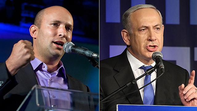 בבית היהודי לא התרגשו מההצעה הנדיבה של הליכוד. נתניהו ובנט (צילום: EPA, עופר עמרם) (צילום: EPA, עופר עמרם)