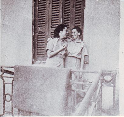 חביבה רייק (משמאל) ושוריקה ברוורמן באיטליה (צילום: באדיבות ארכיון מורשת)