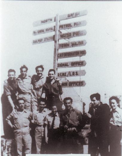 צנחני היישוב, בהם רייק וברוורמן, בעזה בדרך לקהיר (צילום: באדיבות ארכיון מורשת)