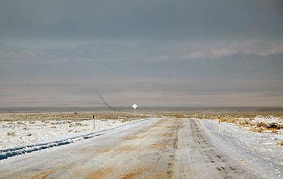 המרחבים עצומים, בכל יום של גומאים מאות קילומטרים של נסיעה (צילום: ליאור קורן) (צילום: ליאור קורן)