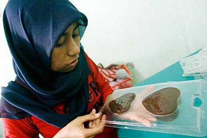 החברה האזרחית ניצחה. מוכרים שוקולדים ביום האהבה בג'קרטה (צילום: EPA) (צילום: EPA)