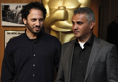 גיא דוידי ועימאד בורנאט. לא רוצה להיות פרובוקטור (צילום: רויטרס) (צילום: רויטרס)