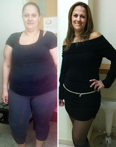 רוזי קולון לפני הדיאטה (שמאל) ואחרי - יש חיים אחרי הדיאטה! (צילום: רוזי קולון) (צילום: רוזי קולון)