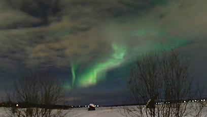 הירוק רוקד בשמיים וגם בלב. הזוהר הצפוני בלפלנד (צילום: זיו ריינשטיין) (צילום: זיו ריינשטיין)