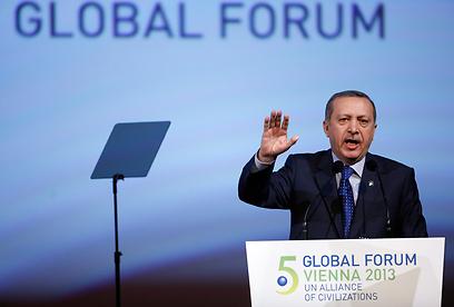 ארדואן. אובמה: מחינו על דבריו לגבי הציונות, טורקיה צריכה להתגמש (צילום: EPA)