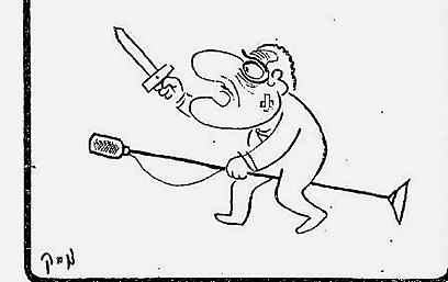 קריקטורה עם דמות נאצר, לאחר הנאום ()