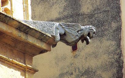 גרגוילים - מרזב מפלצתי בקתדרלה (צילום: שלמה צדקיהו) (צילום: שלמה צדקיהו)