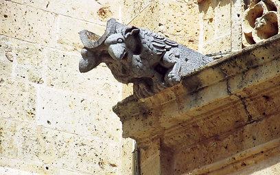 התמקדות בפרטים הקטנים בקתדרלה, שבה פסלים מפלצתיים לגירוש השדים (צילום: שלמה צדקיהו) (צילום: שלמה צדקיהו)