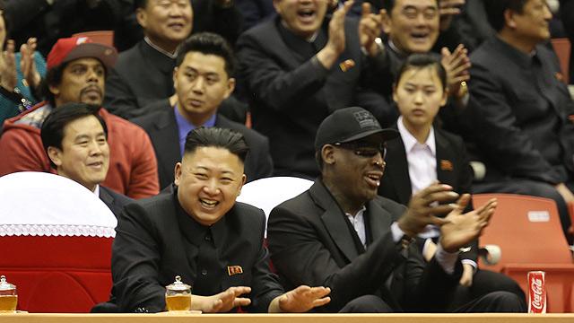 Kim Jong Un and Rodman (Archive photo: AP)