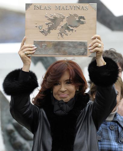 """בארגנטינה לא מוותרים על הבעלות על """"איי מלווינס"""". קירשנר (צילום: AFP) (צילום: AFP)"""