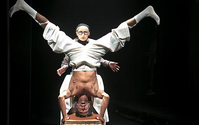 הלנה ירלובה ויוסי צברי. כל תפקיד פנינה (צילום: דניאל קמינסקי)