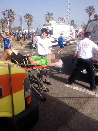 עשרות נפגעים טופלו. מרתון תל אביב (צילום: לירן תמרי) (צילום: לירן תמרי)