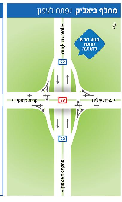 (מפה: באדיבות חברת נתיבי ישראל) (מפה: באדיבות חברת נתיבי ישראל)