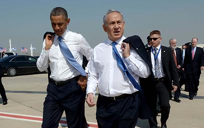 """אובמה הוריד את הז'קט בגלל החום, ראש הממשלה הצטרף  (צילום: אבי אוחיון, לע""""מ) (צילום: אבי אוחיון, לע"""