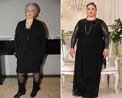 """הילה ממיקה לפני הדיאטה (מימין) ואחריה. """"אנשים פשוט לא זיהו אותי אחרי שהק""""ג נשרו"""" ()"""