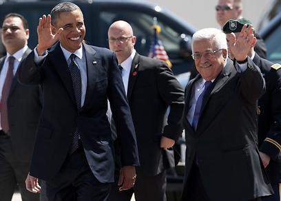 אובמה ואבו מאזן (צילום: AFP) (צילום: AFP)