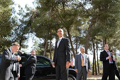 """היום השלישי נפתח בביקור בחלקת גדולי האומה בהר הרצל (צילום: קובי גדעון, לע""""מ) (צילום: קובי גדעון, לע"""