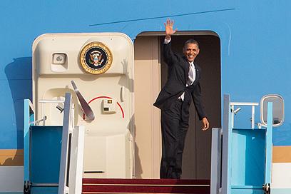 אובמה נפרד לשלום (צילום: אוהד צויגנברג) (צילום: אוהד צויגנברג)