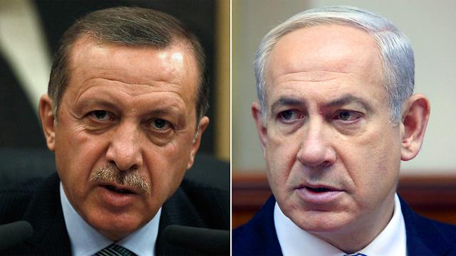 Turkish President Recep Tayyip Erdogan and Prime Minister Benjamin Netanyahu (Photo: Mark Israel Salem, Reuters)