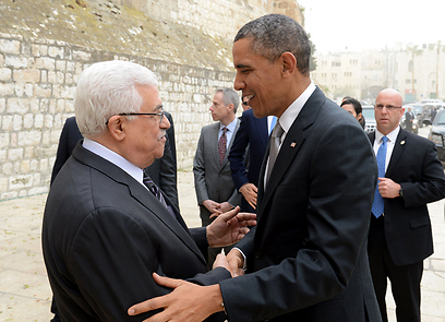 Obama with Abbas in Bethlehem (Photo: MCT) (Photo: MCT)
