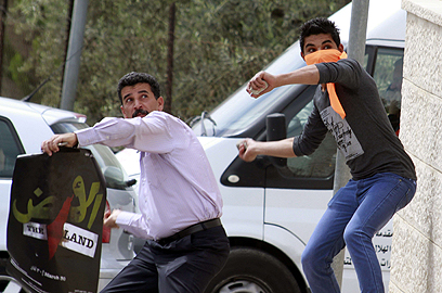 Riots in West Bank (Photo: AFP)