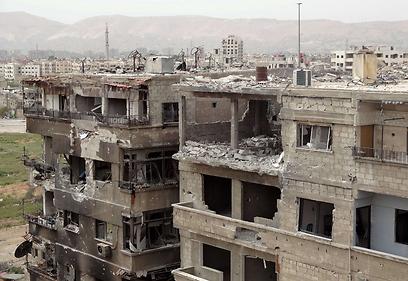 Devastation in Damascus (Photo: AFP)