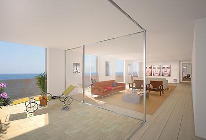 הדמיית דירת הפנטהאוז. 58 מיליון שקל - והיא שלכם (צילום:   Felix Montesquiou) (צילום:   Felix Montesquiou)