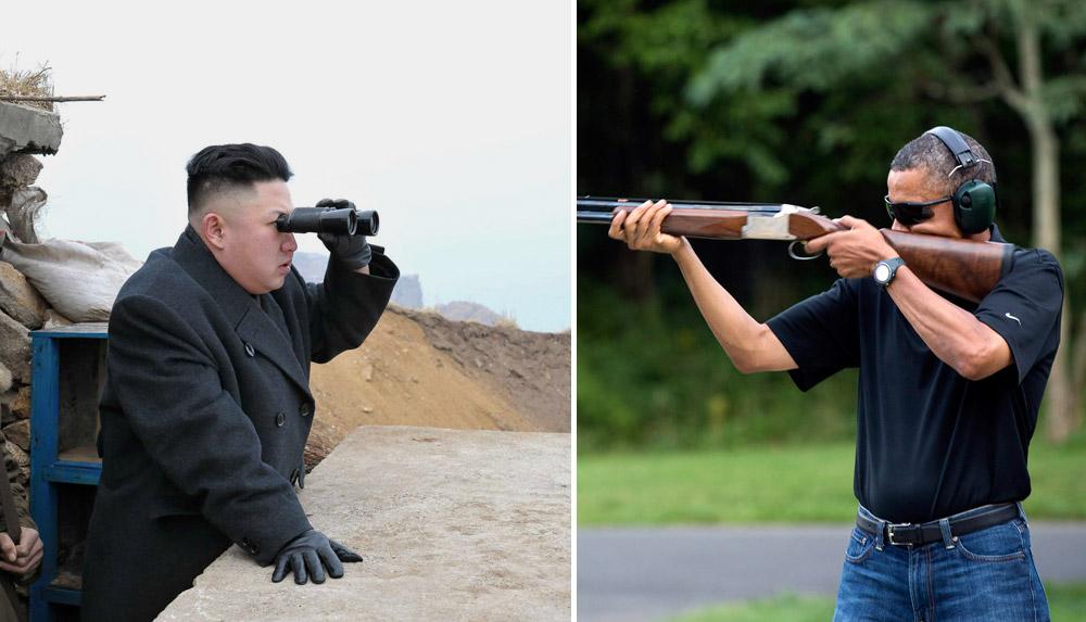 Barack Obama vs. Kim Jong-un. The exact same scenario (Photo: AP)