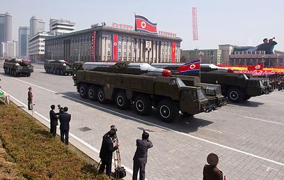 טילי מוסודן צפון קוריאניים. ארכיון (צילום: AFP) (צילום: AFP)