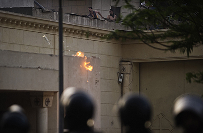 Christian-Muslim clashes in Cairo (Photo: AFP)