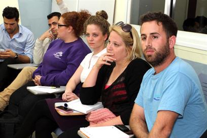 הסטודנטים ערכו כינוס חירום (צילום: עופר עמרם) (צילום: עופר עמרם)