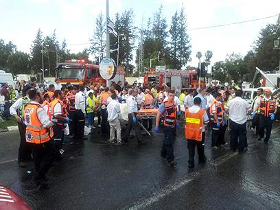 """במד""""א הכריזו על אירוע רב נפגעים (צילום: באדיבות דוברות מד""""א) (צילום: באדיבות דוברות מד"""