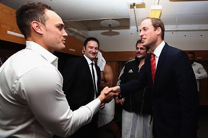ישראל דאג נפגש עם הנסיך וויליאם (צילום: GettyImages)