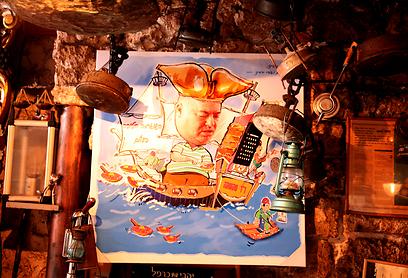 לו הייתי פיראט. קירות המסעדה מלאים במחוות לדוקטור (צילום: לאה גולדה הולטרמן) (צילום: לאה גולדה הולטרמן)