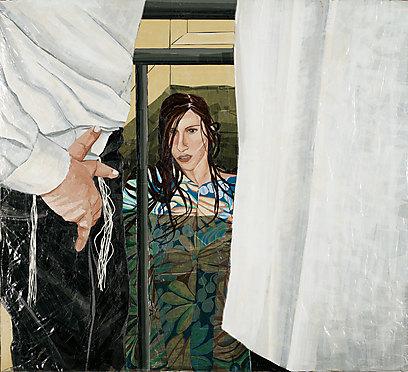 """""""העובדה שיש מתגיירות שחשות פגועות מכך שהן נאלצות לטבול בפני גברים, לא מספיקה כדי להצדיק שינוי הלכתי כללי"""". התמונה - מתוך המיצג """"מעשה באישה וחלוק"""" (ציור: הלה קרבלנוקוב פז, מתוך הסרט """"ושרה מגיירת את הנשים"""" נורית יעקבס ינון - סרטי אלומה) (צילום: נורית יעקבס-ינון, סרטי אלומה) (צילום: נורית יעקבס-ינון, סרטי אלומה)"""