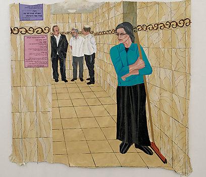 """""""זה נראה לך הגיוני שהאישה שאחראית לחותם הכשרות של הטבילה שלך ושלי, לא מספיק טובה לטבילתה הכשרה של אותה גיורת?"""" עבודה של מיכל קרבלניקוב-פז   (צילום: נורית יעקבס-ינון, סרטי אלומה) (צילום: נורית יעקבס-ינון, סרטי אלומה)"""