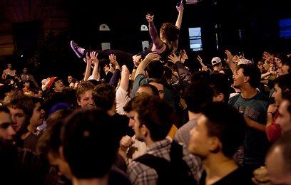 תושבי בוסטון חוגגים (צילום: AFP) (צילום: AFP)