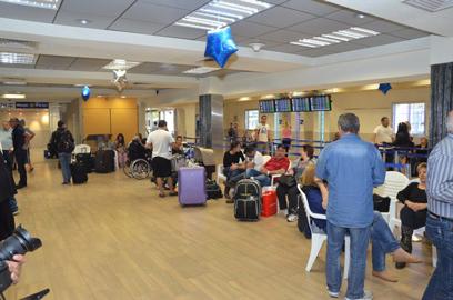 שדה התעופה באילת, הבוקר (צילום: מאיר אוחיון) (צילום: מאיר אוחיון)