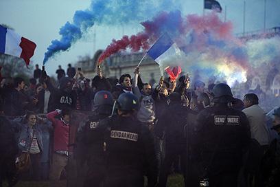 ההפגנה נגמרה בעימותים אלימים ובירי גז מדמיע (צילום: AFP) (צילום: AFP)