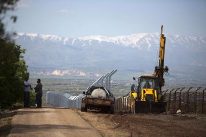 הגבול ברמת הגולן. הכוחות בכוננות מוגברת (צילום: AFP) (צילום: AFP)