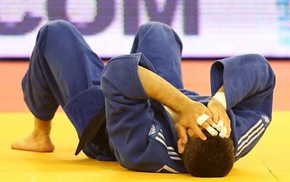 זכה במדליה אחרי שג'סימי לא עלה לקרב מולו. אסף חן (צילום: אורן אהרוני) (צילום: אורן אהרוני)
