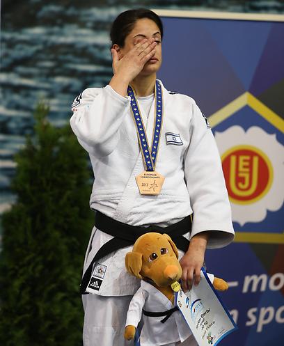 ג'רבי עם מדליית הארד באליפות אירופה (צילום: אורן אהרוני) (צילום: אורן אהרוני)